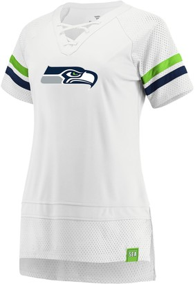 Women's Seattle Seahawks White Out Draft Me Tee