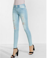 Express faded distressed mid rise super soft jean legging