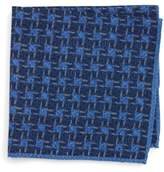 Ted Baker Men's Grid Wool Pocket Square