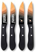 NHL Philadelphia Flyers 4-Piece Stainless Steel Steak Knife Set
