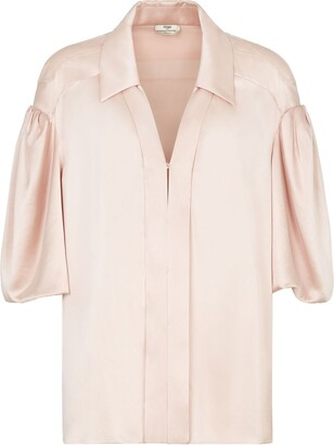 Fendi V-neck silk blouse