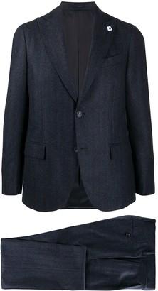 Lardini Single Breasted Shadow Stripe Suit