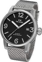 TW Steel Men's MB11 Maverick Analog Display Quartz Silver Watch