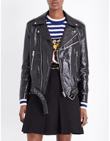 Gucci Graphic-detail leather jacket