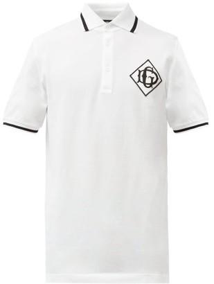 Dolce & Gabbana logo Cotton-pique Polo Shirt - Mens - White