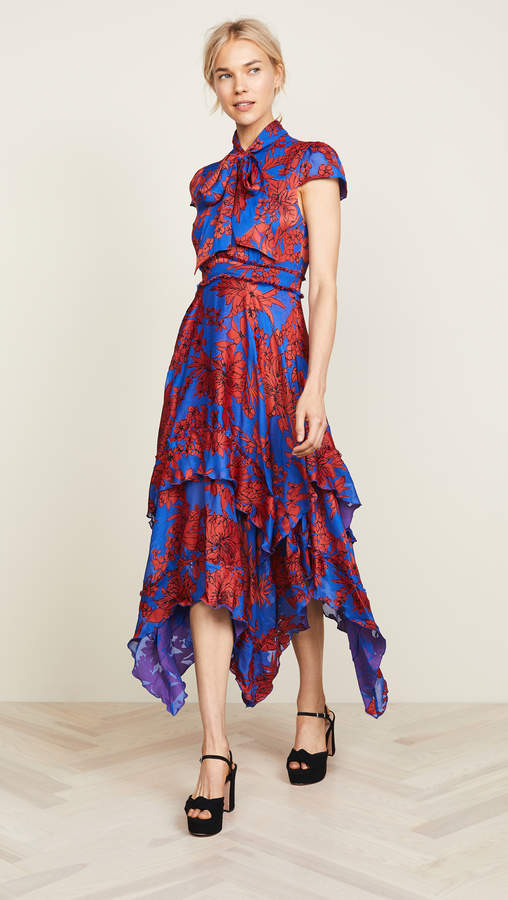 Alice + Olivia Ilia Ruffle Dress