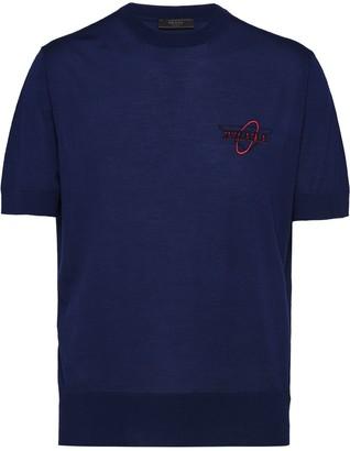 Prada Logo Jacquard Short-Sleeved Jumper
