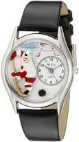 Whimsical Watches Women's S0820002 Hockey Black Leather Watch