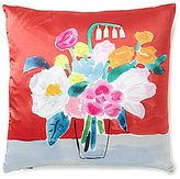 Kate Spade Floral Bouquet Silk & Cotton Square Feather Pillow