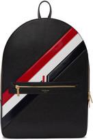 Thom Browne Black Diagonal Stripe Backpack