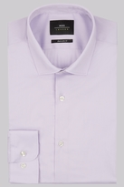 Moss Bros Extra Slim Fit Lilac Single Cuff Stretch Shirt