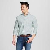 Merona Men's Leaf Print Long Sleeve Button Down Shirt