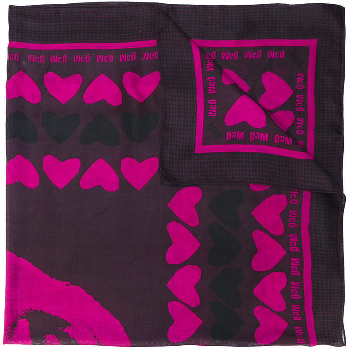 McQ heart print scarf