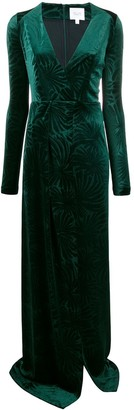 Galvan Winter Palm dress