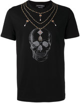 Alexander McQueen skull necklace T-shirt - men - Cotton - S