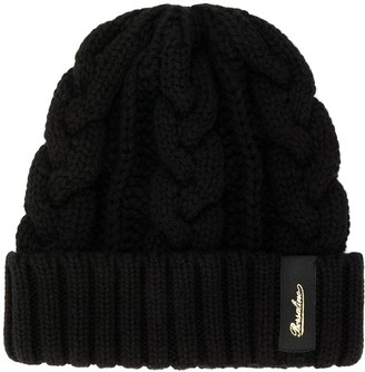 Borsalino cable knit beanie hat