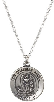 Dogeared Guardian Angel Necklace in Sterling Silver, 16
