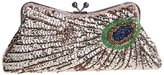 Ainemay Kiss-lock Sequins Peacock Ladies Cocktail Party Clutch Prom Bag