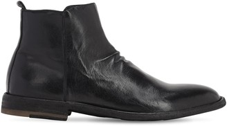 Officine Creative Leather Zip Boots