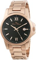 Lucien Piccard Men's 10048-RG-11 Breithorn Textured Dial Rose Gold Ion-Plated Stainless Steel Watch