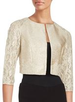 Kay Unger Cropped Lace Jacket