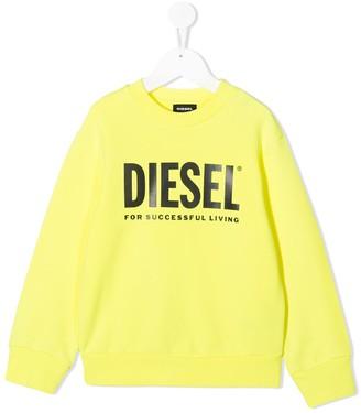Diesel Screw Division logo print sweatshirt