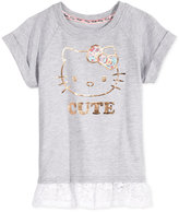Hello Kitty Cute Lace-Hem Top, Toddler & Little Girls (2T-6X)