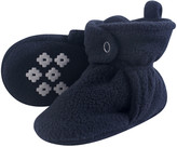 Little Treasure Boys' Infant Booties and Crib Shoes Navy - Navy No-Skid Fleece Booties - Boys