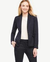 Ann Taylor Petite Pindot One Button Jacket