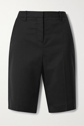 Nili Lotan Montreal Wool-blend Twill Shorts