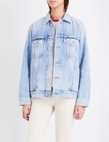 Citizens of Humanity Blossom-embroidered denim jacket