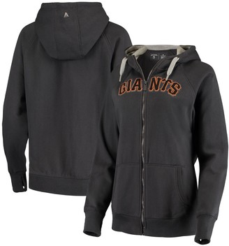 Antigua Women's Charcoal San Francisco Giants Team Victory Full-Zip Hoodie