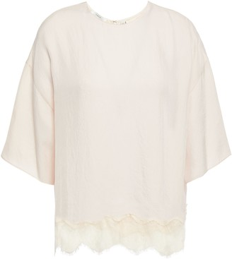 Vince Lace-trimmed Twill Top