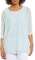 Eileen Fisher Scoop Neck 3/4 Sleeve Tunic