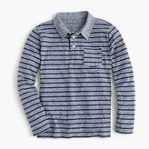 J.Crew Boys' striped long-sleeve polo
