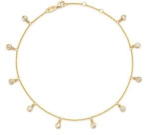 Bloomingdale's Diamond Bezel Droplet Ankle Bracelet in 14K Yellow Gold, 0.50 ct. t.w. - 100% Exclusive
