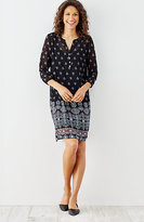 J. Jill Night Sky Border-Print Dress