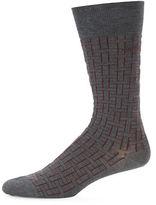 HUGO BOSS RS Design US Printed Mercerized Egyptian Cotton Dress Socks