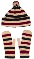 Burberry Wool Hat & Mitten Set
