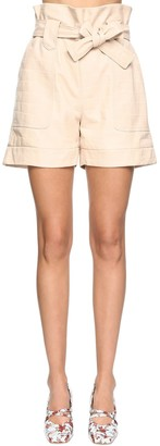 Drome Croc Embossed Leather Shorts