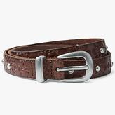 John Lewis Jordan Floral Embossed Skinny Jeans Leather Belt, Brown
