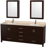 WYNDHAM COLLECTION Wyndham Collection Sheffield 80 inch Double Bathroom Vanity