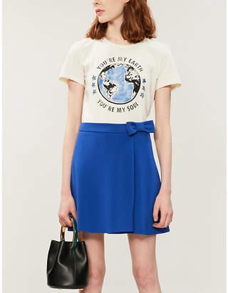 Claudie Pierlot Spleeny crepe mini skirt