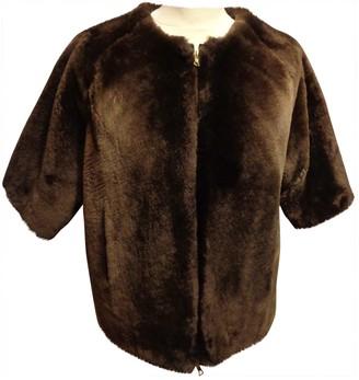 Marni Brown Beaver Coat for Women