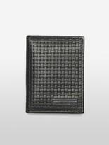 Calvin Klein Mens Weave Texture Billfold + Flap Wallet Black
