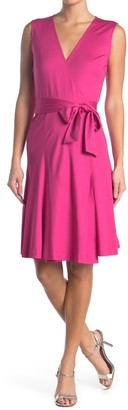 Diane von Furstenberg Jasmine Sleeveless Silk Blend Wrap Dress