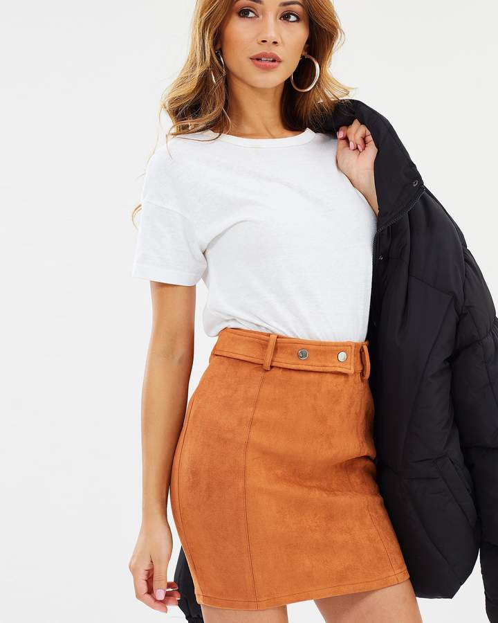 Missguided Faux Suede Mini