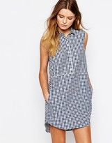 People Tree Organic Fairtrade Cotton Shirt Dress in Check