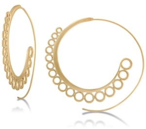 "Rachel Roy Gold-Tone 2-1/4"" Spiral Large Hoop Earrings"