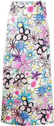 Mira Mikati Flower Print Skirt